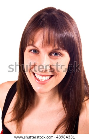 Isolated Close up Shot of a Woman - White Background