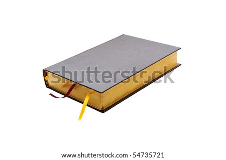 isolated closed bright book of bible - stock photo
