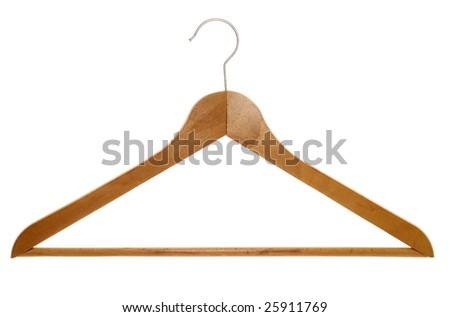 isolated clothes hanger