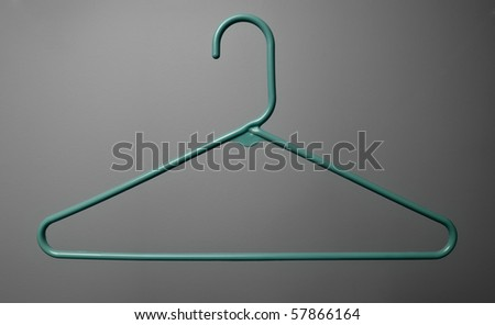 Isolated Clothing Hanger - stock photo