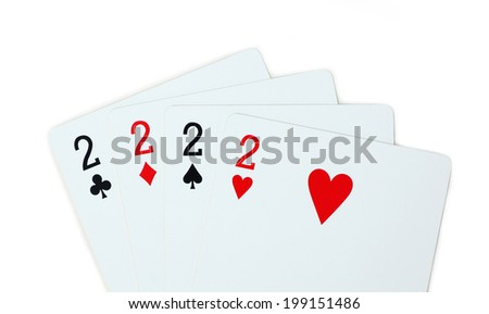 isolated clubs diamonds spades hearts 2 - stock photo
