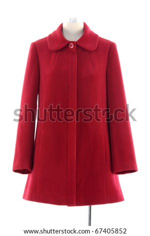 Isolated coat dress on mannequin - stock photo