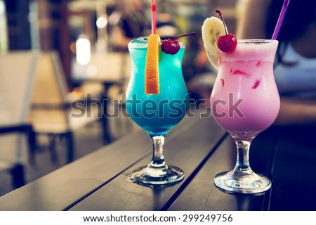 isolated cocktail on a background a cafe - stock photo