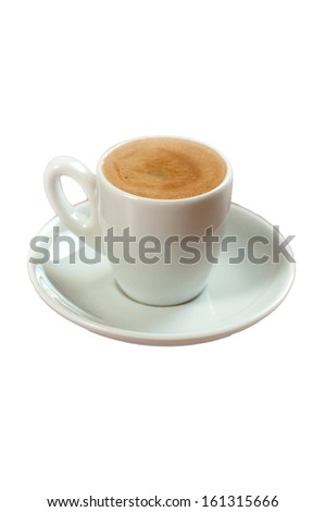 isolated coffe photograph - stock photo