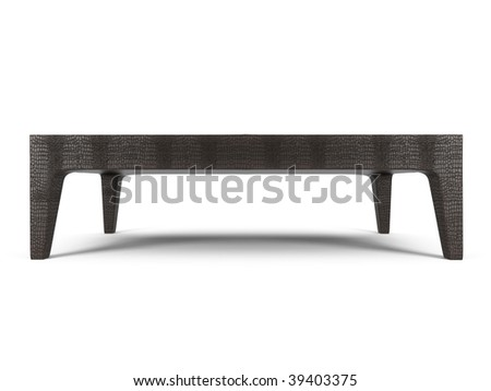 isolated coffee table on white background - stock photo