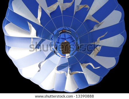 Isolated colorful hot air balloon. - stock photo
