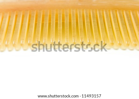 isolated comb, made by goat horn in China