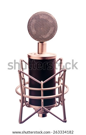 Isolated Condenser Microphone - stock photo