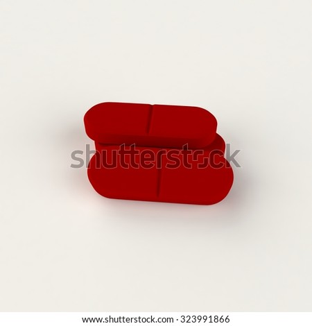 Isolated couple of pills - stock photo