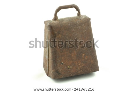 Isolated Cow/goat bell from Norway - stock photo