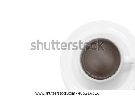 isolated cup of coffee on white background