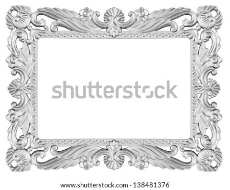 Isolated decorative frame over white background - stock photo