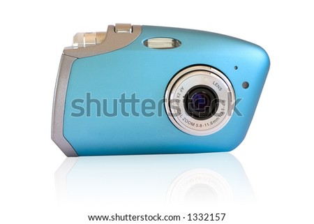 Isolated digital camera with reflection