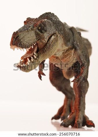 Isolated dinosaur and monster model - stock photo