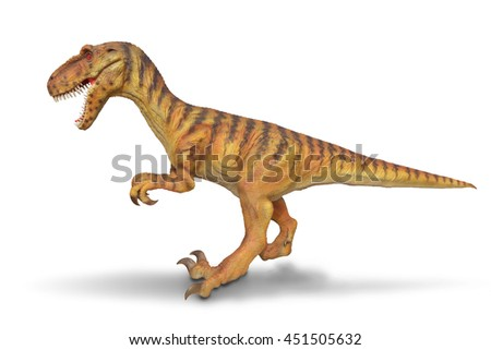 Isolated Dinosaurs model on white background. This has clipping path.