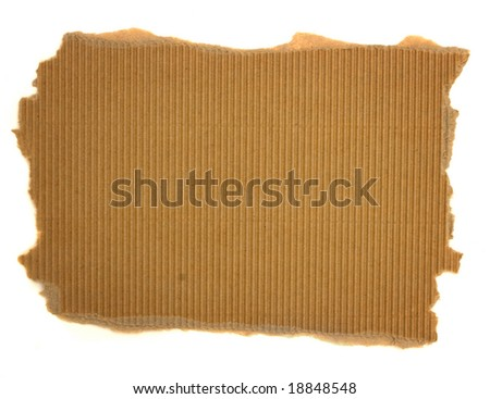 Isolated distressed cardboard paper texture with copyspace