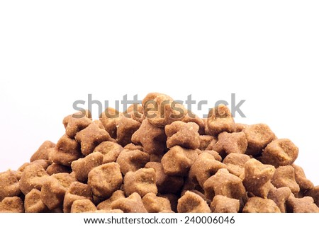 Isolated dog dry food.