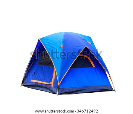 Isolated dome tent with clipping path - stock photo