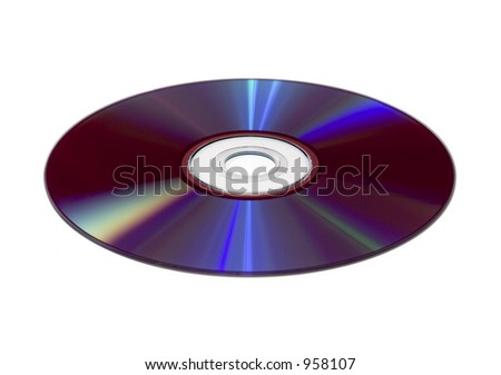 Isolated DVD - stock photo