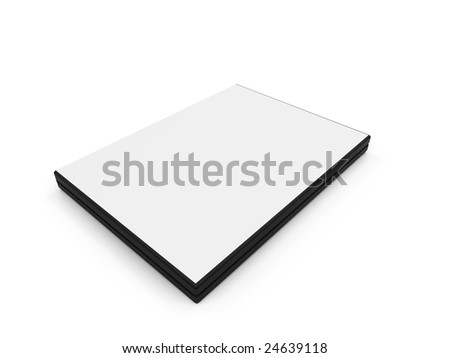 isolated Dvd blank box over white