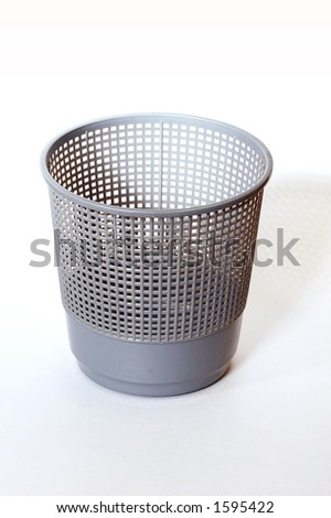 isolated empty dustbin