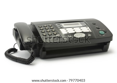 isolated fax on a white background