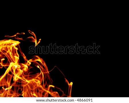 isolated fiery background - stock photo