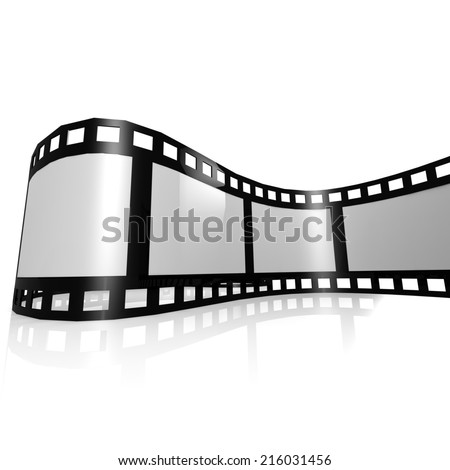 Isolated film strip - stock photo