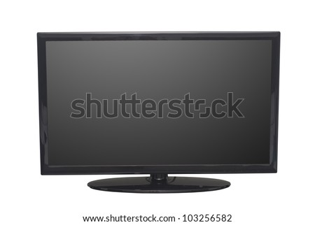 isolated flat screen tv or computer monitor, with 2 clipping path in jpg. One clipping path is tv outline, the other one is the screen.