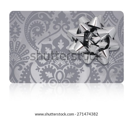 Isolated gift card. - stock photo