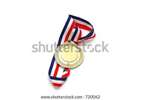 Isolated Gold Medal.