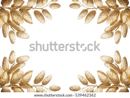 Isolated golden leaves