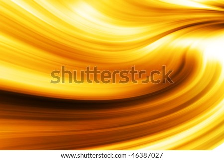Isolated golden wave