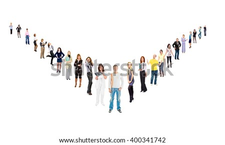 Isolated Groups Business Compilation  - stock photo