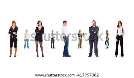 Isolated Groups Office Idea  - stock photo