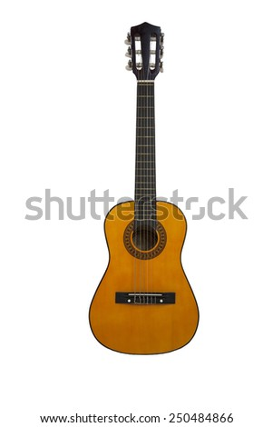 Isolated Guitar - stock photo