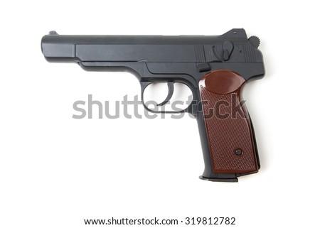 Isolated gun on white background - stock photo