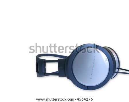 isolated headphone on a white background - stock photo