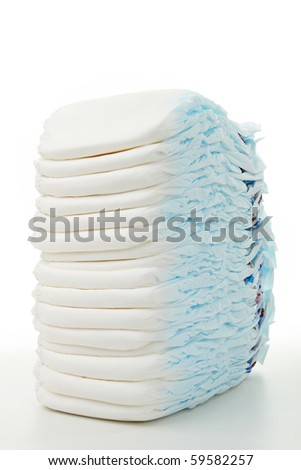 isolated heap of diaper