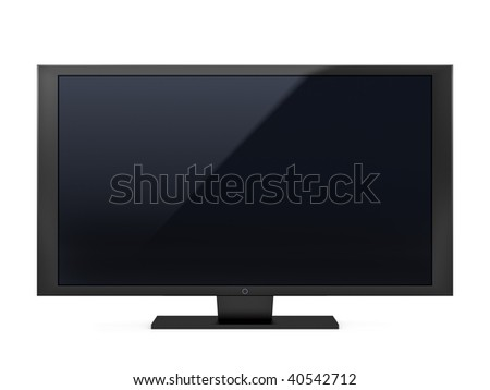 isolated high end flat LCD television