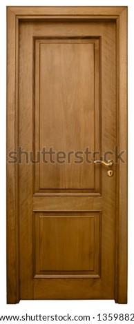 Isolated Home Door - stock photo