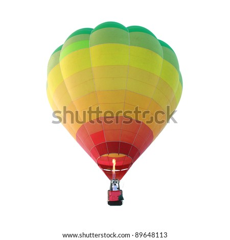 Isolated hot air balloon - stock photo