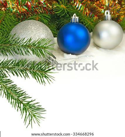 Isolated image of a Christmas balls on a white background close-up