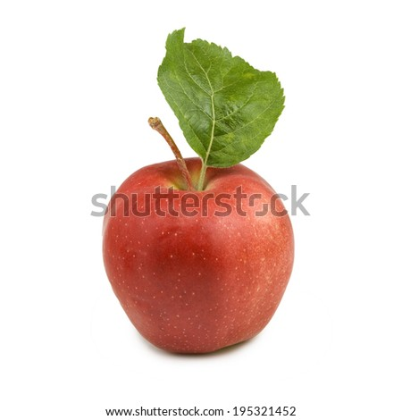Isolated image of a ripe apple on a white background