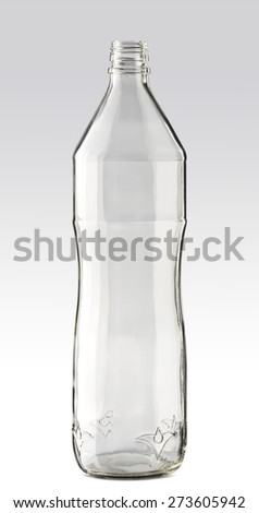 Isolated image of an empty water bottle - stock photo