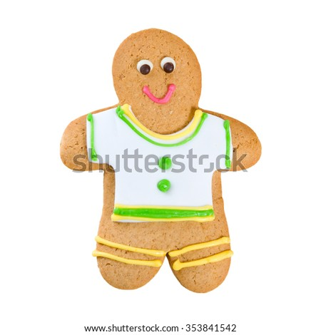 Isolated image of delicious gingerbread closeup