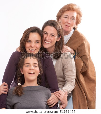 Isolated image of for women of different generations