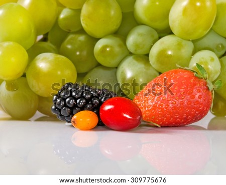 Isolated image of ripe fruit closeup - stock photo