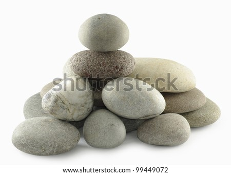 Isolated image of stones on a white background