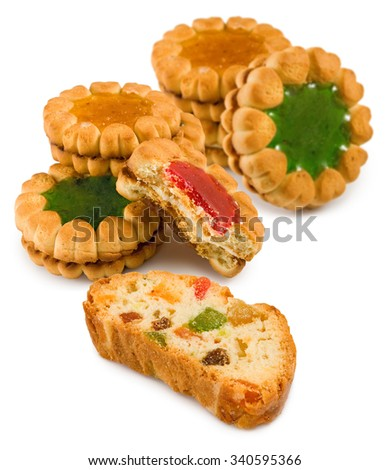 Isolated image of  tasty cookies close-up - stock photo